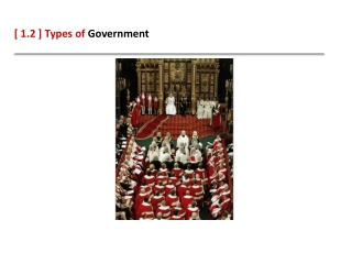 Types of Government Types of Social Scientists