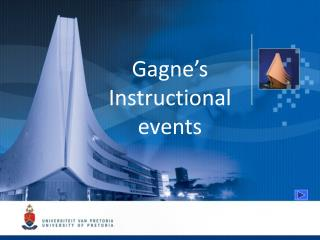 Gagne's Instructional events