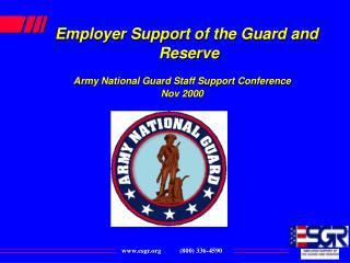 Employer Support of the Guard and Reserve Army National Guard Staff Support Conference  Nov 2000