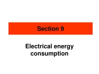 Electrical  energy consumption