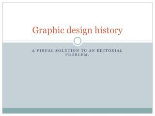 Graphic design history