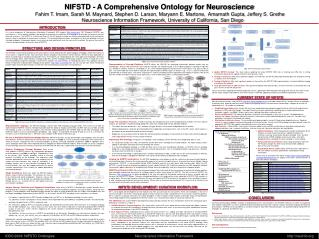 NIFSTD - A Comprehensive Ontology for Neuroscience