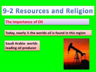 9-2 Resources and Religion