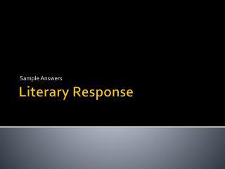 Literary Response