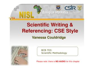 Scientific Writing & Referencing CSE Style