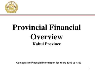 Provincial Financial Overview Kabul  Province