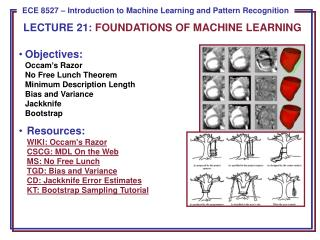 LECTURE  21:  FOUNDATIONS OF MACHINE LEARNING