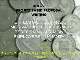 UHL4042 PROJECT BASED PROPOSAL WRITING