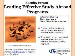 Leading Effective Study Abroad Programs