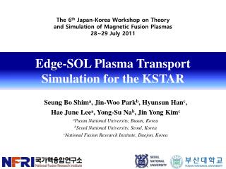 Edge-SOL Plasma Transport Simulation for the KSTAR