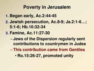 Poverty in Jerusalem