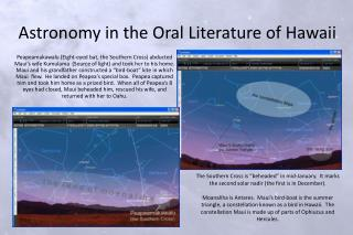 Astronomy in the Oral Literature of Hawaii