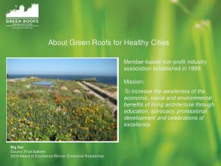 About Green Roofs for Healthy Cities