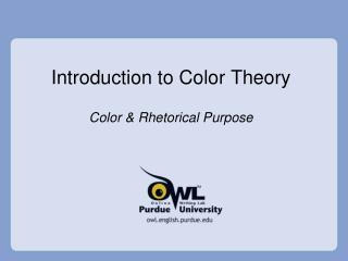 Introduction to Color Theory