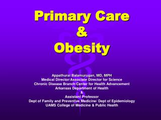 Primary Care & Obesity