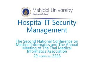 Hospital IT Security Management
