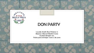 DON PARTY
