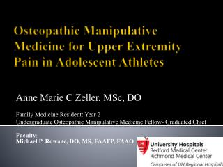 O steopathic  Manipulative  Medicine  for  Upper Extremity Pain in Adolescent Athletes