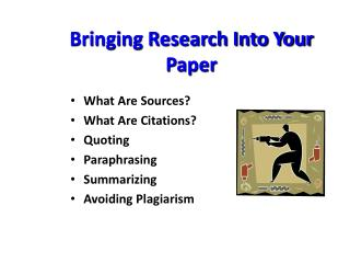 Bringing Research Into Your Paper