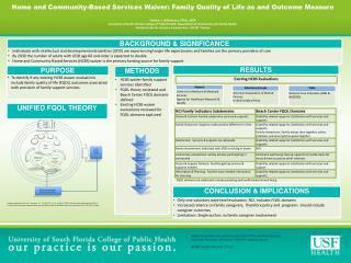 Home  and  Community-Based  Services  Waiver: Family  Quality of Life as and Outcome Measure