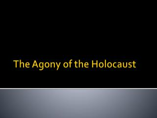 The Agony of the Holocaust