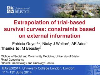 Extrapolation of trial-based survival curves: constraints based on external information