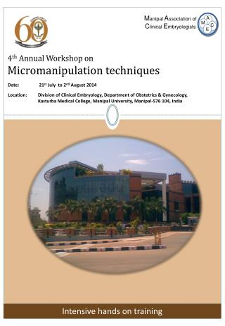 4 th  Annual Workshop on Micromanipulation techniques