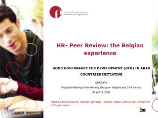 HR- Peer Review: the Belgian experience