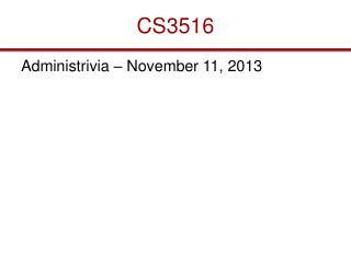 CS3516