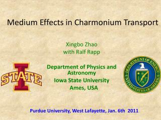 Medium Effects in Charmonium Transport