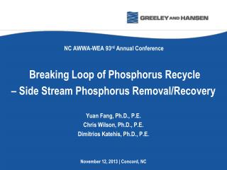 Breaking Loop of Phosphorus Recycle  – Side Stream Phosphorus Removal/Recovery