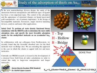 Study  of  the adsorption  of  thiols on  Au 55