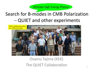 Search for B-modes in CMB Polarization -  QUIET and other experiments