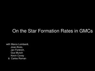 On the Star Formation Rates in GMCs