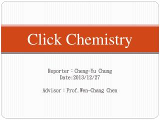 Click Chemistry