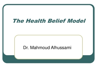 Health Belief Model HBM