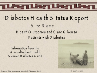 Diabetes Health Status Report ______Site Name_________ Health Outcomes and Care Given to