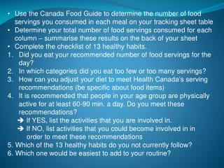 food gude summary questions