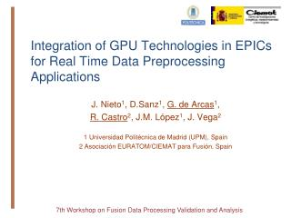 Integration of GPU Technologies in EPICs for Real Time Data Preprocessing Applications