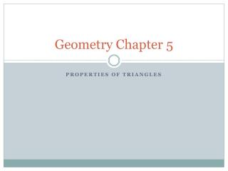 Geometry Chapter 5