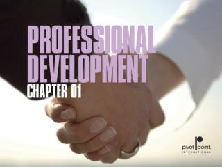 Chapter 1  Professional  Development