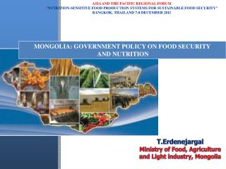 MONGOLIA: Government policy on food security  and NUTRITION