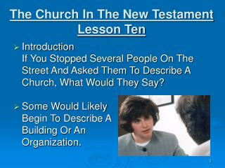 The Church In The New Testament Lesson Ten