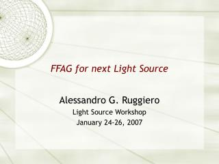 FFAG for next Light Source