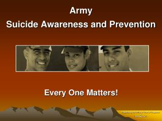 Army Suicide Awareness and Prevention