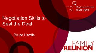 Negotiation Skills to  Seal the Deal