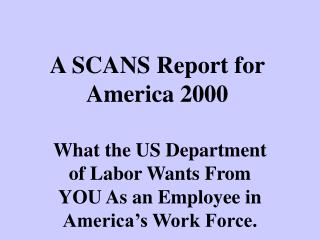 A SCANS Report for America 2000