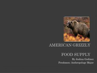 American Grizzly Food SUPPLY