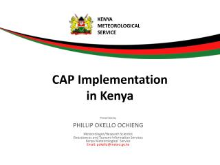 CAP Implementation  in Kenya