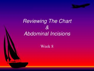 Reviewing The Chart & Abdominal Incisions